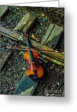 Lost Violin Greeting Card