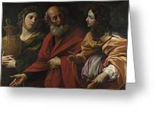 Lot And His Daughters Leaving Sodom Greeting Card