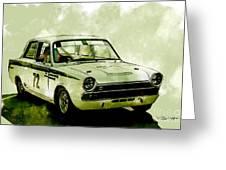 Lotus Cortina Greeting Card