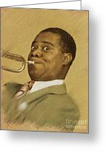 Louis Armstrong, Music Legend Greeting Card