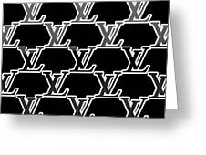 Louis Vuitton Black Greeting Card