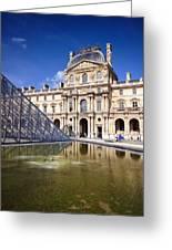 Louvre Museum Architecture Paris Greeting Card