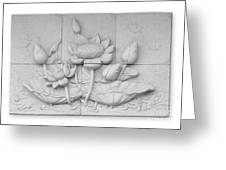 Low Relief Cement Thai Style  Greeting Card