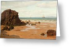 Low Tide At The Ris Beach Greeting Card