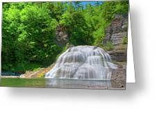 Lower Falls 0485 Greeting Card