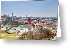 Lublin Old Town Panorama Poland Greeting Card