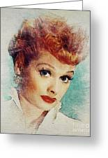 Lucille Ball, Vintage Actress Greeting Card