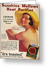 Lucky Strike Cigarette Ad Greeting Card
