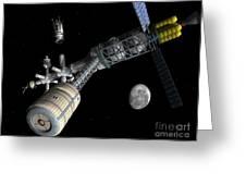 Lunar Cycler Centrifuge Greeting Card