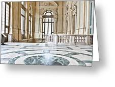 Luxury Interior In Palazzo Madama, Turin, Italy Greeting Card