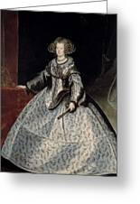 Luycks, Frans Amberes, 1604 - Viena, 1668 Maria Of Austria, Queen Of Hungary Ca. 1635 Greeting Card