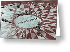 Lyrics Of Lennon Greeting Card