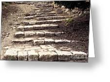 Maccabean Steps St Peter In Gallicantu Greeting Card