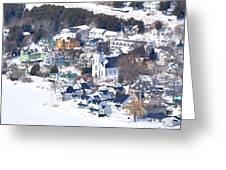 Mackinac Island Winter Greeting Card