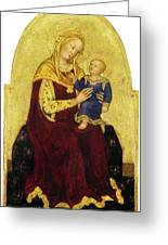 Madonna And Child Enthroned Greeting Card