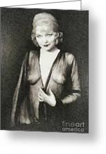 Mae West, Vintage Actress Greeting Card