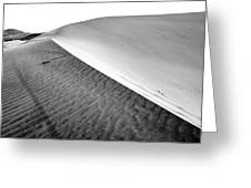 Magnificent Sandy Waves On Dunes At Sunny Day Greeting Card