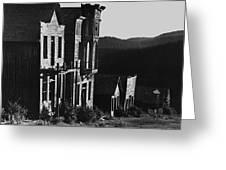 Main Street Ghost Town Elkhorn Montana 1971 Greeting Card