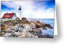 Maine Lighthouse Greeting Card