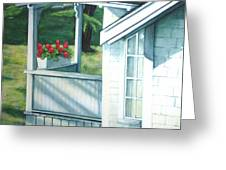 Maine Porches Number One Greeting Card