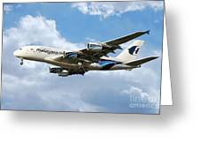 Malaysia Airlines Airbus A380 Greeting Card