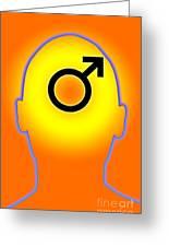 Male Symbol Greeting Card