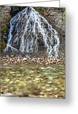 Cascades Of Maligne Canyon Greeting Card