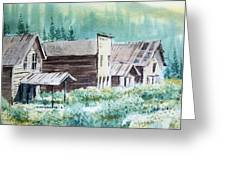 Mammoth Ghost Town Montana Greeting Card