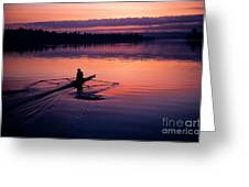 Man Rowing On Montlake Cut Greeting Card