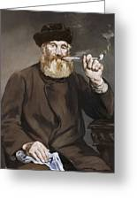 Man Smoking A Pipe Greeting Card
