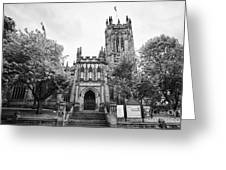 Manchester Cathedral Uk Greeting Card