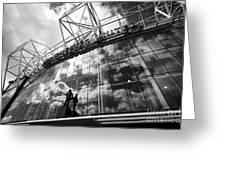 Manchester United Old Trafford Stadium Uk Greeting Card