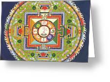 Mandala Of Avalokiteshvara           Greeting Card by Carmen Mensink