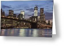 Manhattan Skyline New York Greeting Card