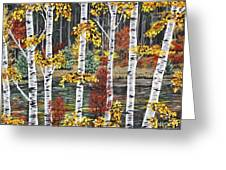 Manitoba Birch  Greeting Card by Lynn Huttinga