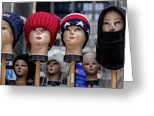Mannequin Heads Greeting Card