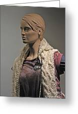 Mannequin. Greeting Card