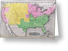 Map Of The United States Greeting Card