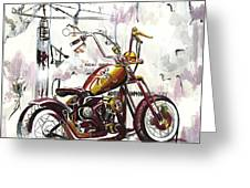 Mapped Motorcycle Greeting Card