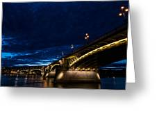 Margaret  Bridge In Budapest Greeting Card