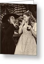 Margaret Hamilton And Judy Garland In The Wizard Of Oz 1939 Greeting Card