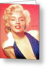 Marilyn Monroe - Pencil Style Greeting Card