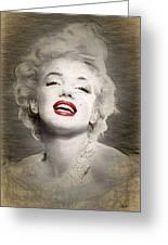 Marilyn Monroe Portrait Greeting Card
