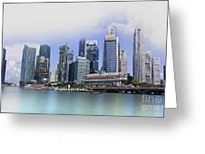Marina Bay Singapore Greeting Card