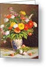 Market Flowers Impression Greeting Card