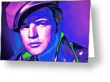 Marlon Brando The Wild One 20160116 Square V2 Greeting Card
