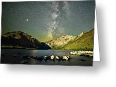 Mars And The Milky Way Greeting Card