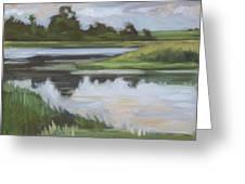 Marsh, June Afternoon Greeting Card