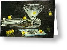 Martini Military Greeting Card