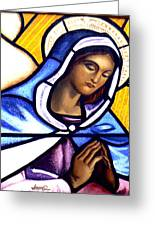 Mary In Glass Greeting Card